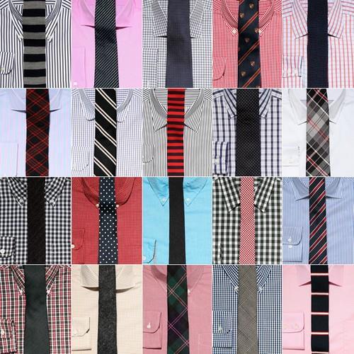 разные галстуки и рубашки
