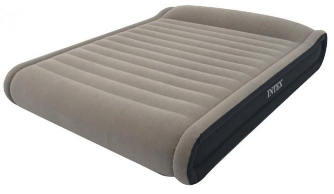 Надувной матрас для сна с насосом- цена, фото, рейтинг. naduvnoj_matras_dlya_sna_s_nasosom_04_Intex_67726_Mid_Rise_Pillow_Rest_Bed