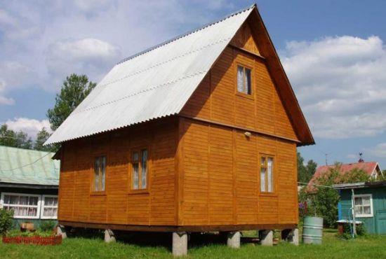 Каркасный дом на свайном фундаменте