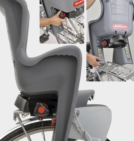 Заднее велокресло с креплением на багажник