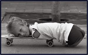 Ник на скейтборде