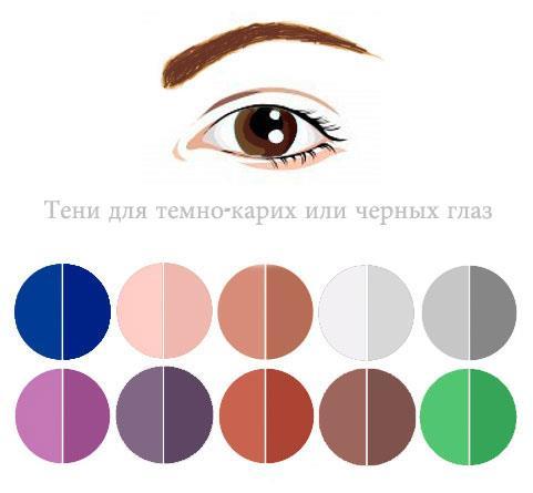Как выбрать цвет теней