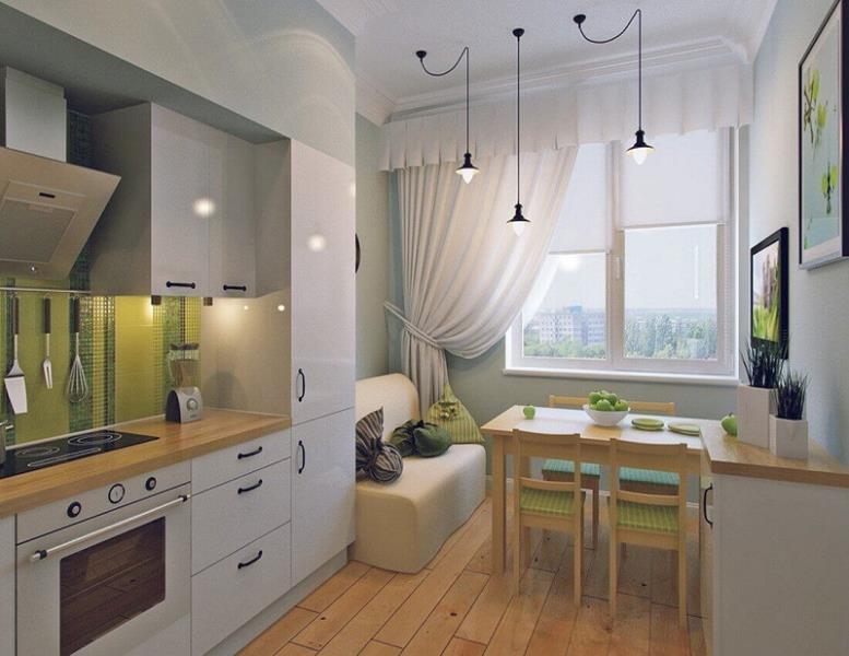 кухня и расположение стола