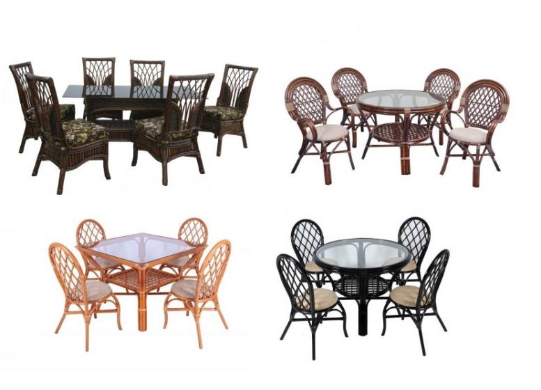 столы со стульями для кухни