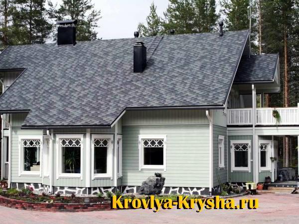 Серый цвет крыши