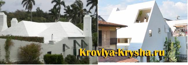 Белый цвет крыши