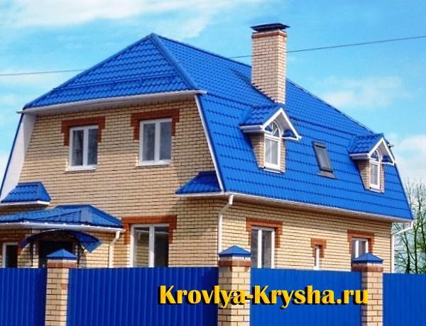 Какой цвет крыши выбрать: образец синей крыши