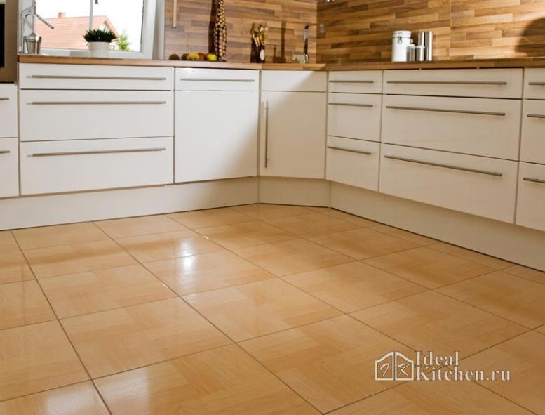 Напольная плитка для кухни — размеры, форматы, цены, нюансы укладки