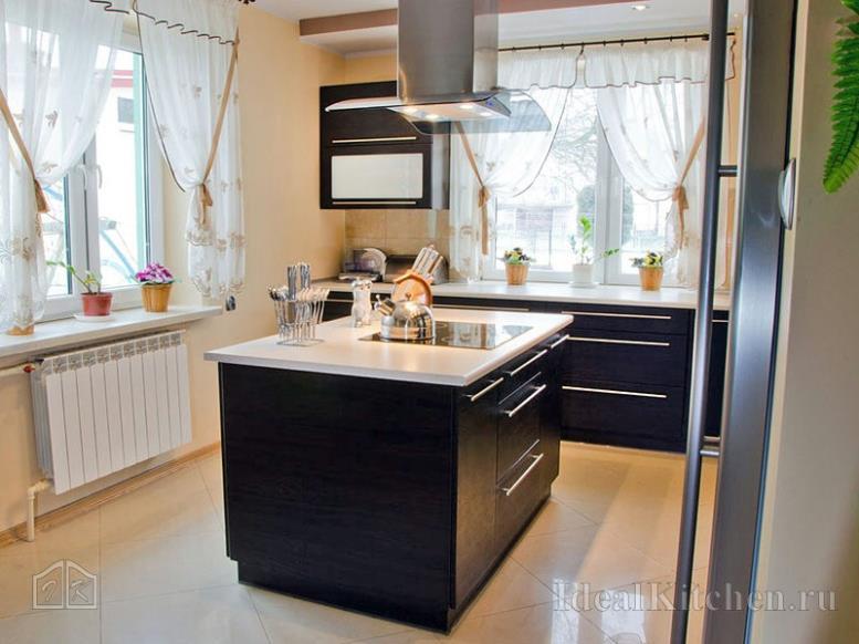 остров в интерьере кухни