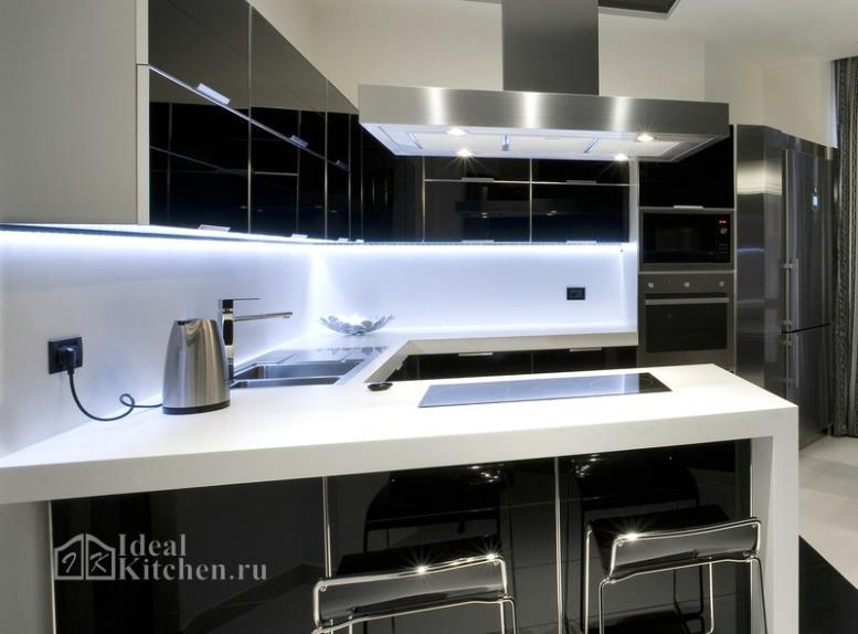 Кухни хай-тек: 108 фото и секреты дизайна