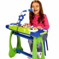игрушечный синтезатор с микрофоном