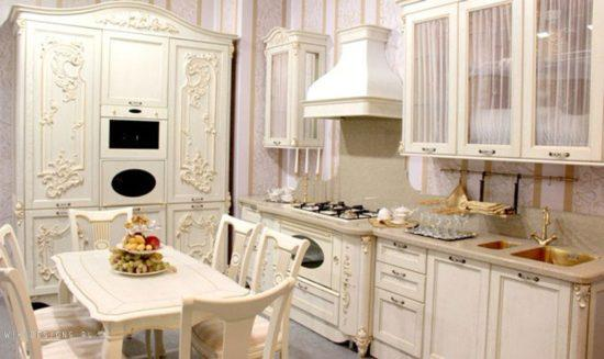 Кухня в стиле барокко из МДФ