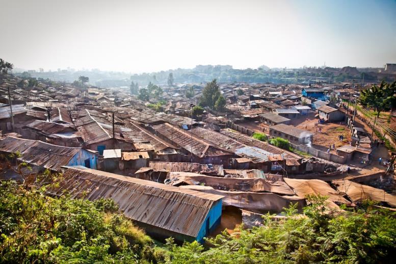 Трущобный квартал Кибера в Найроби