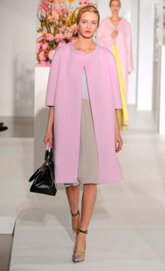 Сумка к розовому пальто