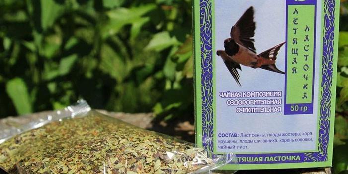 Очищающий чай Летящая ласточка в упаковке