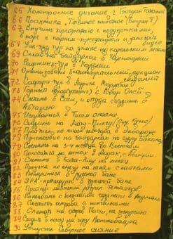 Список 100 желаний Елены. Лист 3