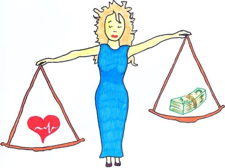 Метод ста желаний поможет найти баланс в жизни. Весы.