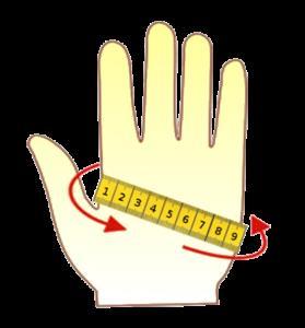 Правильно подобрать размер перчаток, варежек