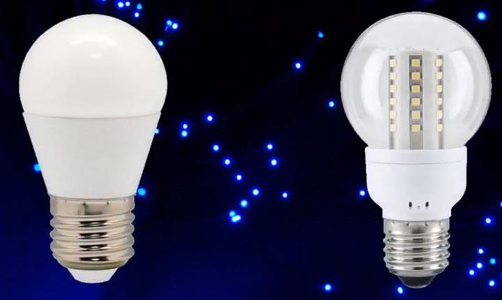 колба матовая и прозрачная на одной лампе