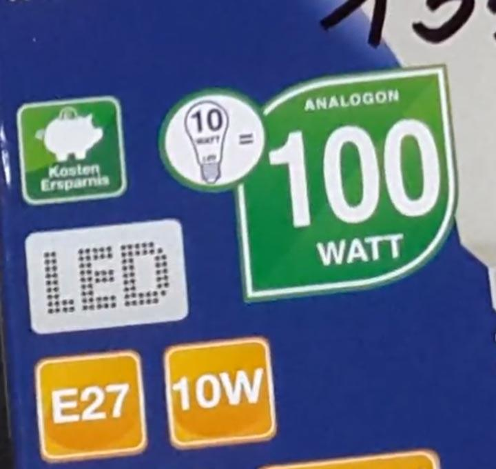 признак обмана по надписям на упаковке светодиодной лампы