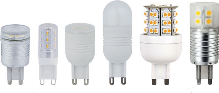 модели ламп с цоколем G9