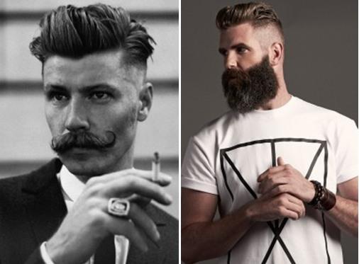 Прически в сочетании с усами и бородой