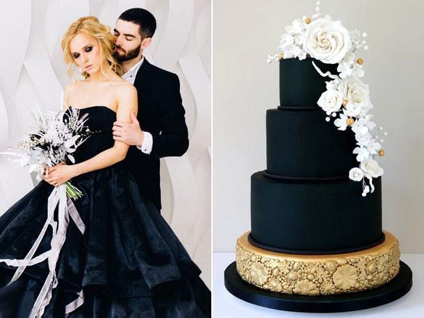 Модный цвет свадьбы в 2019 году - черный
