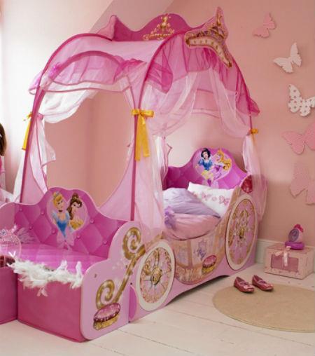 кровать карета с балдахином