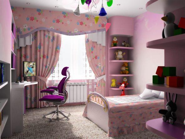 оформить детскую комнату для девочки