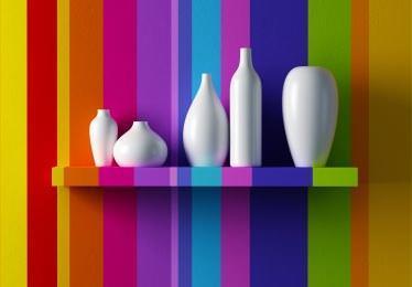 Использовав множество цветов и их оттенков, можно добиться радужной и позитивной атмосферы в вашей кухне