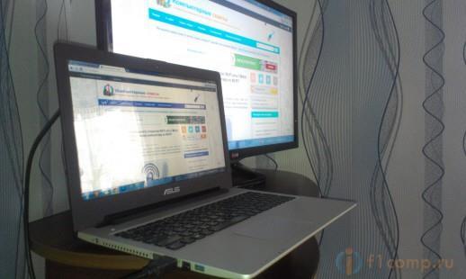 Изображение с ноутбука на телевизоре