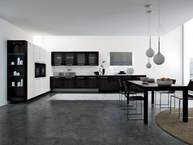 Темный линолеум на кухне