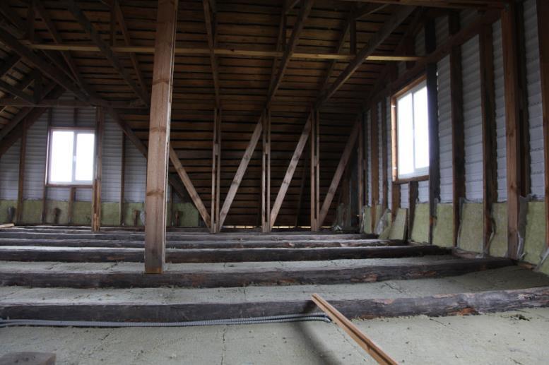 Второй этаж дома - свободная планировка