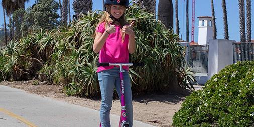 Розовый самокат для девочек Razor A5 Lux