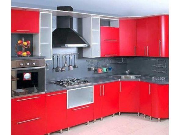 красный цвет для кухонного гарнитура