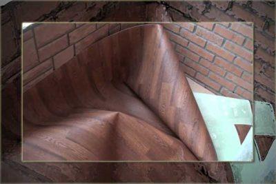 Линолеум-на-балконе