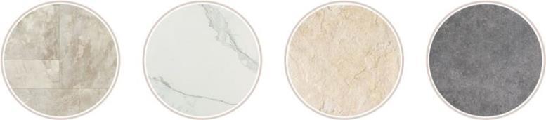 натуральный камень на кухонном полу