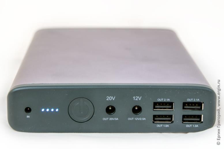 Самый емкий пауэр банк для зарядки ноутбука MAXOAK K2