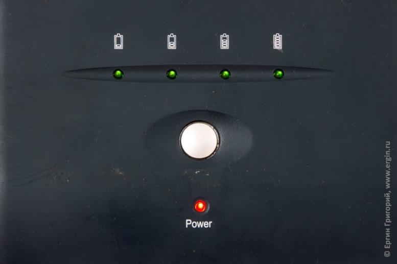 Светодиодный индикатор зарядки внешнего аккумулятора для ноутбука Pitatel NPS-153