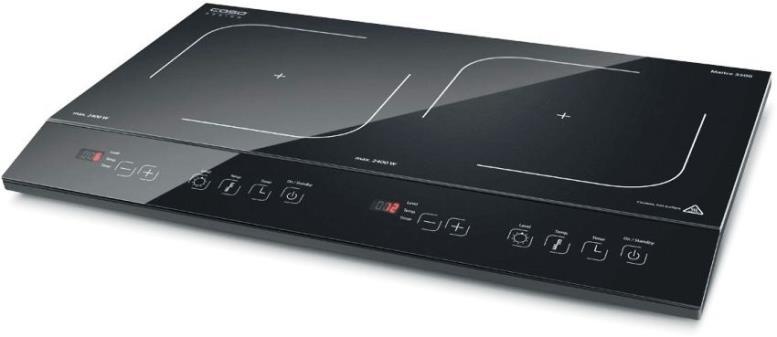 Модель индукционной плиты Caso ECO3400 оснащена индикатором остаточного тепла, защитой от перегрева и таймером