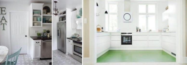 Дизайн и цвет линолеума на кухне