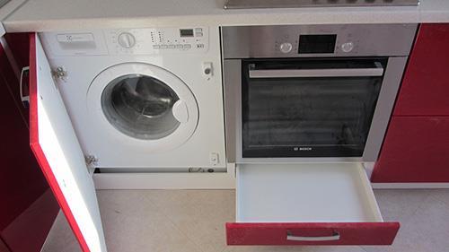 Параметры встраиваемой стиральной машины