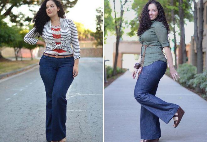 женские джинсы для полных женщин