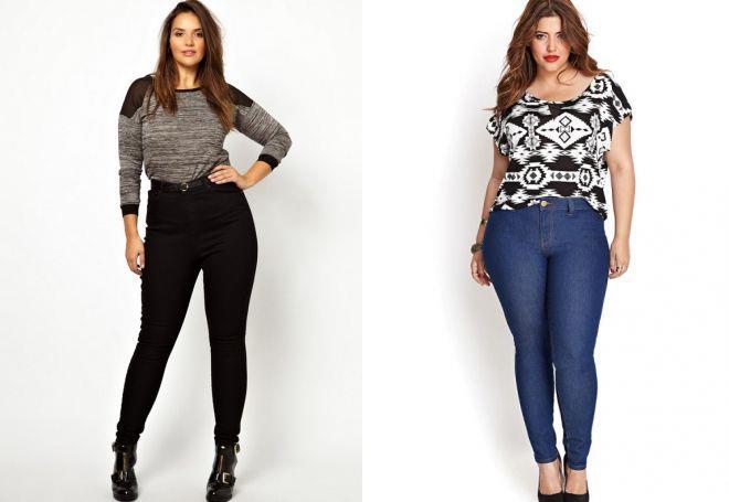джинсы скинни для полных женщин