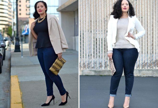 модные джинсы для полных женщин
