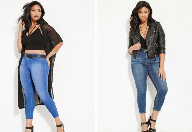 джинсы 7 8 для полных женщин