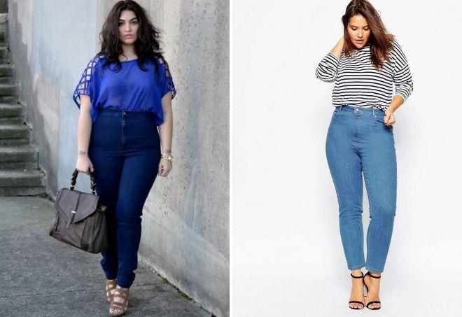 джинсы для полных женщин с животом