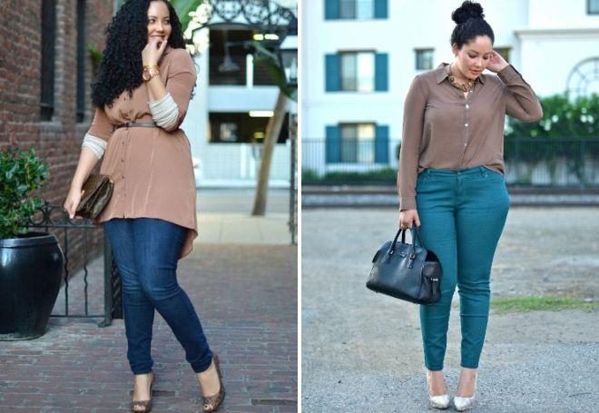 какие джинсы подойдут полным женщинам