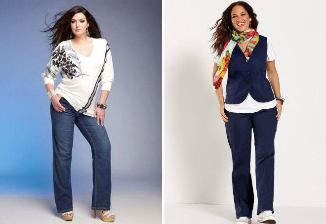 какие джинсы носить полным женщинам