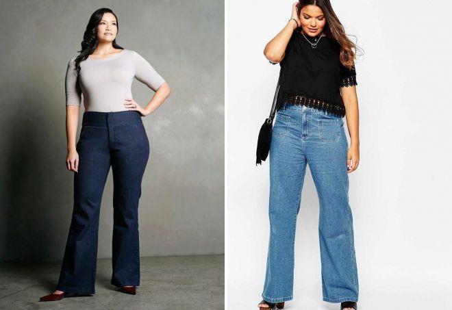 стильные джинсы для полных женщин